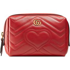 Gucci Gg Marmont Cosmetic Case (11,455 HNL) ❤ liked on Polyvore featuring beauty products, beauty accessories, bags & cases, bags, gucci, bolsas, makeup bags, red, makeup bag case and make up bag
