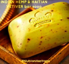 #NubianHeritage Indian Hemp & Haitian Vetiver #barsoap combines the protective, healing, and rejuvenating qualities of hemp seed oil, neem oil and vetiver. USES: oily, dry, and troubled skin.