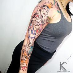 Disney Jasmine, Neue Tattoos, Disney Tattoos, Sleeve Tattoos, Watercolor Tattoo, Tatting, Geek Stuff, Drawings, 35
