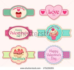 Valentines day labels Candy Signs, Swirl Lollipops, Candy Bouquet, Sign I, Happy Day, Valentines Day, Stickers, Bakery, Printables
