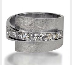 The ring is too large for my taste, however I like the finish with the diamonds.