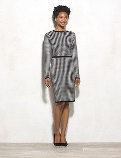 MIXT by Heidi Weisel™ Houndstooth Sweater Dress