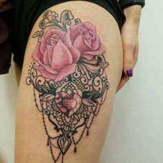 Celebrate Femininity With 50 Of The Most Beautiful Lace Tattoos You've Ever Seen - KickAss Things Bad Tattoos, Cover Up Tattoos, Body Art Tattoos, Sleeve Tattoos, Tattoos For Guys, Tattoos For Women, Stomach Tattoos, Future Tattoos, Girl Tattoos