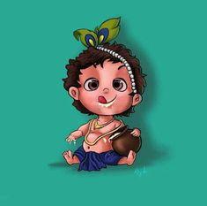 Wall art ideas and inspiration – bestlooks Krishna Statue, Lord Krishna Images, Radha Krishna Pictures, Krishna Radha, Durga, Little Krishna, Cute Krishna, Krishna Drawing, Krishna Painting