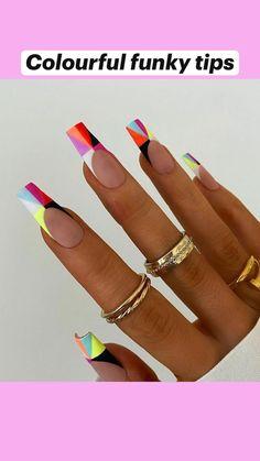 Edgy Nails, Stylish Nails, Swag Nails, Nail Design Stiletto, Nail Design Glitter, Best Acrylic Nails, Acrylic Nail Designs, Unique Nail Designs, Lemon Nails