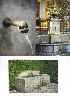 stone trough water feature