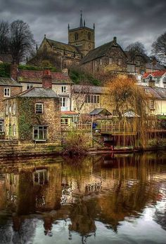 River Canal view in Knaresborough ~ Harrogate, North Yorkshire, England