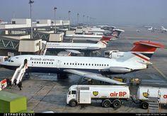 British European Airways (BEA)  Hawker Siddeley HS-121 Trident 1 G-ARPN c/n 6836 London Heathrow March 17, 1976 Photo by: Daniel Tanner