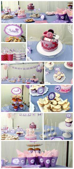 Réalisation d'un buffet d'anniversaire sur le thème de Violetta (Kids birthday Violetta)