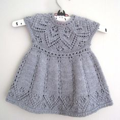 Pippa Dress Knitting pattern by Suzie Sparkles Pippa Dress Knitting pattern by Suzie Sparkles Summer Knitting Projects, Loom Knitting Projects, Knit Baby Dress, Baby Scarf, Christmas Knitting Patterns, Baby Knitting Patterns, Crochet Baby, Knit Crochet, Knitted Baby