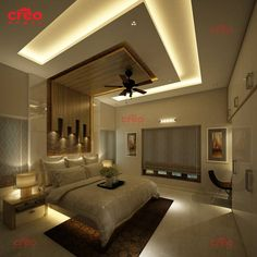 CREO HOMES is Kochi's top leading architects in Kerala with the best team of professional interior and architecture designers who understand the client's needs and aspirations. We aim to provide aesthetically appealing interior designs and architects. Interior Ceiling Design, House Ceiling Design, Ceiling Design Living Room, Bedroom False Ceiling Design, Bedroom Pop Design, Luxury Bedroom Design, Master Bedroom Interior, Modern Luxury Bedroom, Luxurious Bedrooms