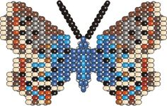 Butterfly Meleageria Daphnis (parallel weaving with wire)