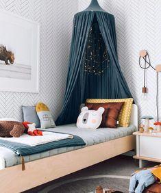 A tile wallpaper perfectly suited for achieving the modern Scandinavian design. Teen Girl Bedrooms, Boy Rooms, Princess Bedrooms, Minimalist Bedroom, Luxurious Bedrooms, My New Room, Bedroom Decor, Bedroom Bed, Bedroom Black