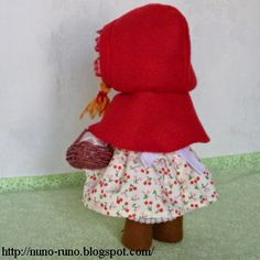 Boneca de Pano: Boneca de feltro simples - capinha com passo a passo