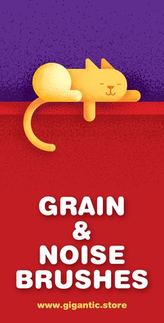 Hey! :D I will show you how to create a grain and noise gradient texture in Adobe Illustrator. The tutorial is easy and fun ;) I created the cat illustration in flat design style, and it's very useful for a graphic design and drawing projects. I will show you how to use the gigantic noise brushes. Just pick up one brush, make a few movements, and the magic begins :D I used illustrator cs 6 but you can use other versions like illustrator cc 2015, illustrator cc 2017, illustrator cc, etc…