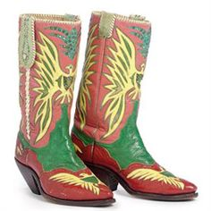 """The Circus """"NO SPIN ZONE"""": Nudie Cohn shirts and boots made for Roy Rogers and sold at the recent High Noon auction."""
