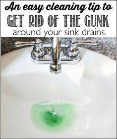 How to Clean Black Sludge in Bathroom Sink Drains | Sink drain ...
