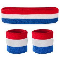 Red White & Blue Sweatband Sets