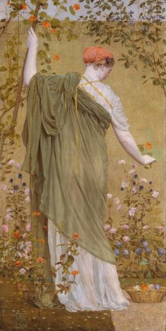 Albert Moore A Garden 1869 Oil on canvas support: 1746 x 879 mm frame: 1980 x 1110 x 95 mm