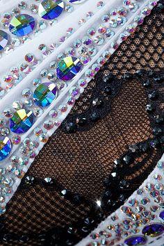 Up-close of stoning pattern on ruching Latin Ballroom Dresses, Ballroom Dance, Dance Dresses, Irish Dance, Latin Dance, Up Costumes, Dance Costumes, Rhythmic Gymnastics Leotards, Rhinestone Dress