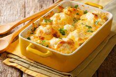 Recette: Chou-fleur au parmesan. Broccoli Gratin, Cauliflower Gratin, Great Recipes, Keto Recipes, Cooking Recipes, Favorite Recipes, Vegetarian Cheese, Vegan Vegetarian, Risotto Coquillette