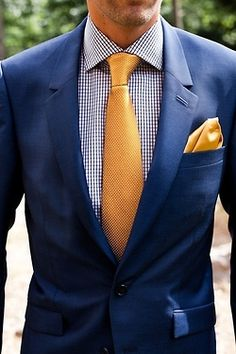 Vibrant yellow and blue a lovely combination! theperfectgentleman.tv #clothing