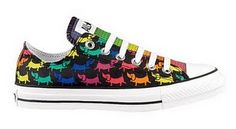 Doxie Chucks!  1) They are converse 2) They have doxies!!!! 3)They are multi-colored!!!  WOOOOOHOOO!