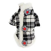 Plaid Coat for Dogs (XS-XL, Black and White) – AUD $ 16.46