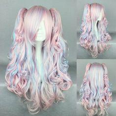 Ladieshair Cosplay Perücke blau pink 70cm lockig Lolita Wig, http://www.amazon.de/dp/B00K300GZG/ref=cm_sw_r_pi_awdl_a4KNwb0K9NCGC
