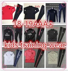 2019 Real Madrid Training Wear PSG Kids Football Kits 2018 19 Psg Soccer  Tracksuit Sets Jacket Mbappe Ronaldo Football Training Suit Jogging Psg  From ... 518341bde