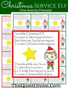 Family Christmas Tradition: Service Elves/Angels with FREE Activity Printables