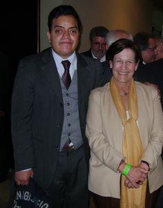 Freddie Armando Romero y Susana Villarán de la Puente en presentación de libro en homenaje al Presidente Valentín Paniagua Corazao. (30.11.2010)