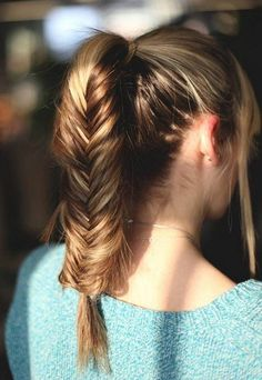 The fashion for schools Ponytail hairstyles for long hair Ponytail hairstyles with fishtail hair Cute Ponytail Hairstyles, Long Hair Ponytail, Easy Hairstyles For Medium Hair, Ponytail Styles, Straight Hairstyles, Braided Hairstyles, Cool Hairstyles, Wedding Hairstyles, Sport Hairstyles