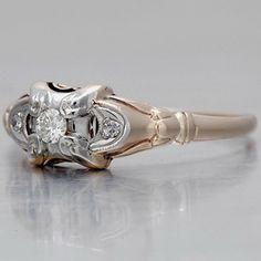 Vintage Engagement Ring - Art Nouveau