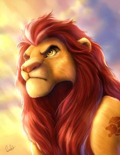 """Adult Kion from """"The Lion Guard"""". That's what I would make him look like in Tlk Three, except he would look more cartoonish. Kiara Lion King, Lion King 3, Lion King Fan Art, Lion King Movie, Lion Art, Simba Disney, Disney Lion King, Disney And Dreamworks, Tarzan"""