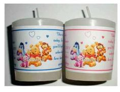 winnie the pooh baby shower | WINNIE THE POOH BABY SHOWER FAVORS VOTIVE CANDLE LABELS