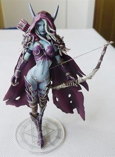 "of Warcraft Forsaken Queen Sylvanas Windrunner 5.5"" Action Figure World NEW"
