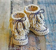 Boho Baby Moccasins Patter This is a listing for 2 PDF files containing the **Pattern** to this adorable pair of Boho Baby Moccasins! Here is the link to the Two-Pattern listing for the Moccasins and their Coordinating Slouchy Fringe Hat (see pic above): https://www.etsy.com/listing/493493999 Pattern Info ************* Sizes: Newborn, 0-3 Mos, 3-6 Mos, 6-12 Mos and 12- 18 Mos. Level of difficulty: Beginner. Written in US terms. I love pictures so include many of them ...