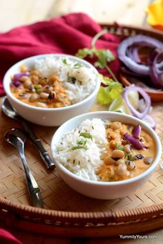 Bkack eyed peas curry, tastiest beans and rice you will ever eat!