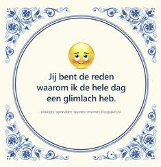 Emoticon, Emoji, Dutch Quotes, Little Pigs, Love Notes, Holland, Lyrics, Romance, Inspirational Quotes