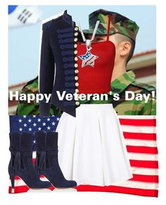 """Happy Veteran's Day!"" by aliroseheart ❤ liked on Polyvore featuring Evergreen, WearAll, Topshop, Pinky Laing and Chloé"