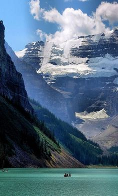 Lake Louise, Alberta, Canada. It really does look like the picture. I want to go see this place one day. #Canada