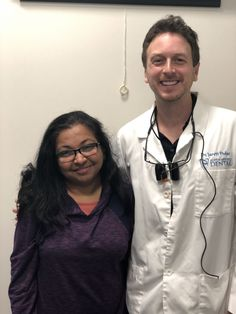 Yashashri is the second dentist this week to come see us for treatment. Always a humbled and honored to be chosen by a fellow dentist. Dentists, Come And See, Dental, Two By Two, Coat, Red, Fashion, Moda, Sewing Coat