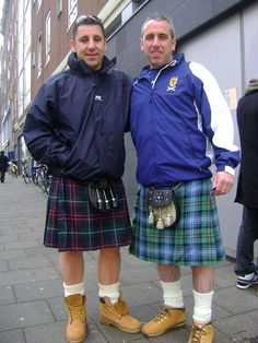 The Scottish affair - 20,000 people from Scotland had come to Amsterdam for the Netherlands Vs Scotland World cup qualifier. All wearing the Scotland's national dress.