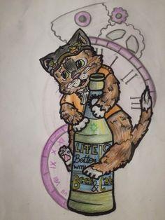#art #cat #steampunk