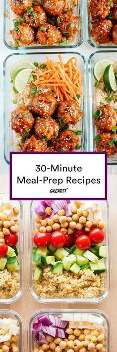 Meal prep for people who don't feel like meal-prepping. #greatist https://greatist.com/eat/easy-meal-prep-ideas-in-30-minutes-or-less