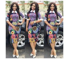 Need to add some colour to your wardrobe? Here are 70 Pictures of currently trending Ankara styles in We give Kudos to the exceptional stylists, and designers who put together these lovely pieces. Modern Ankara Styles in Vogue Short Ankara Dresses, Ankara Dress Styles, African Print Dresses, African Print Fashion, Africa Fashion, African Fashion Dresses, African Dress, Ankara Fashion, Ankara Tops