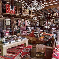 Colorado Guest Cabin Bedroom : Ralph Lauren's Chic Homes and Office : Architectural Digest