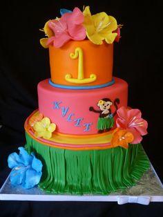 Tropical Monkey Birthday Cake