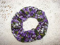 PURPLE Lilac Flower Floral Fabric Handmade Hair by coloradocntry